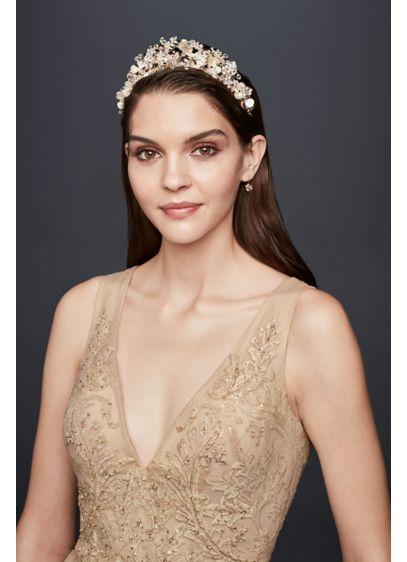 Botanical Blooms Crystal-Embellished Tiara - Wedding Accessories