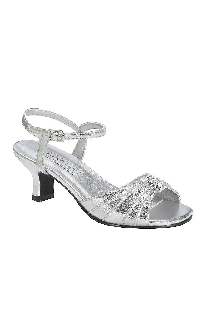 Talia Girl's Silver Metallic Sandal by Touch Ups - Just as precious as your little one are