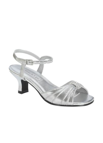 Touch Ups Grey (Talia Girl's Silver Metallic Sandal by Touch Ups)
