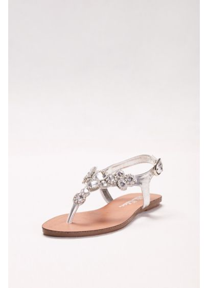 Blossom Grey (T-Strap Sandal with Halo Crystals)