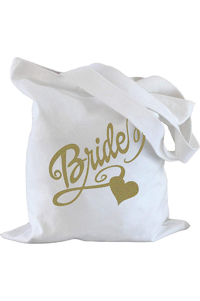 Bride Heart Tote Bag - Tote your wedding day essentials in this cute