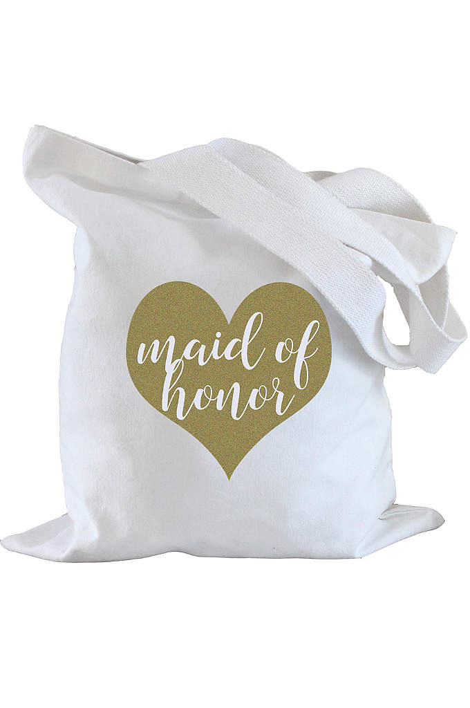 Maid of Honor Heart Tote Bag - Tote wedding day essentials in this adorable Maid