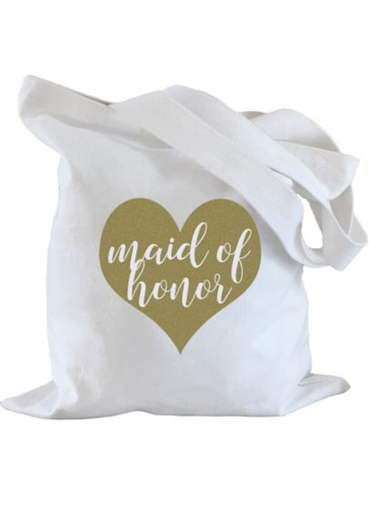 Maid of Honor Heart Tote Bag - Wedding Gifts & Decorations