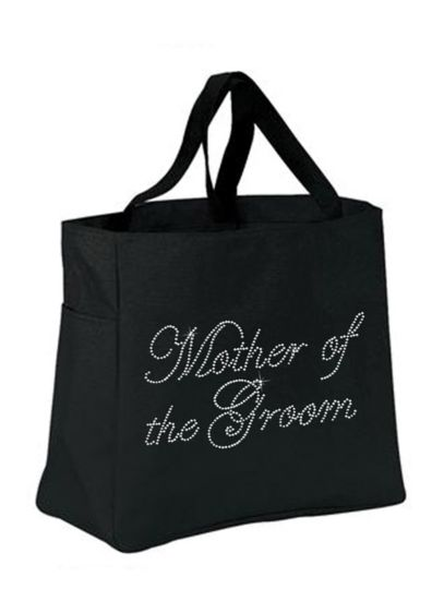 Black (Rhinestone Mother of the Groom Tote Bag)