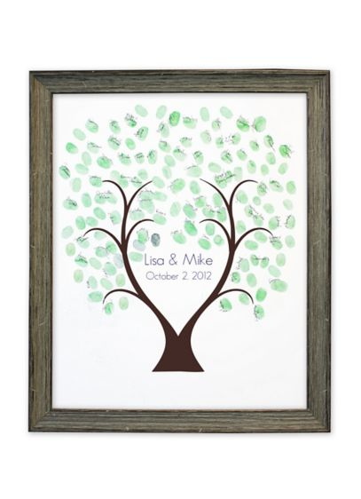 Thumbprint Tree Guest Book Driftwood Frame - Wedding Gifts & Decorations