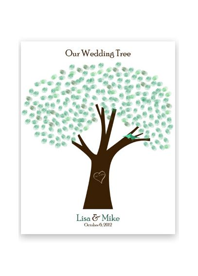 Thumbprint Wedding Tree Guest Book Print Only TPPB