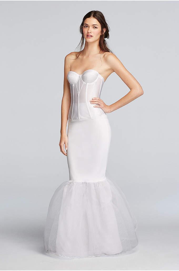 Tea length bridal slip davids bridal for Bra under wedding dress