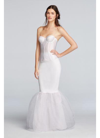 Trumpet silhouette slip davids bridal for White silk slip wedding dress