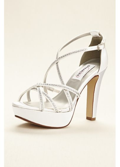 Dyeable Strappy Platform Sandal with Crystals Taylor