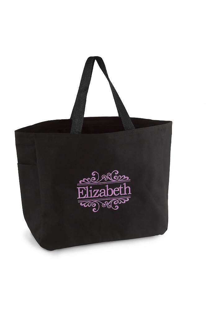 DB Exclusive Personalized Baroque Tote Bags - Gift your bridesmaids with a tote bag that