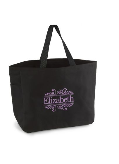 Black (DB Exclusive Personalized Baroque Tote Bags)