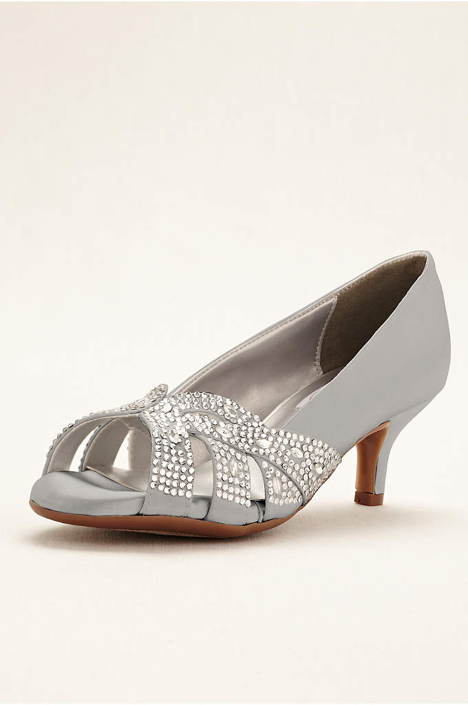 Tracy Crystal Peep Toe Pump - You don't have to sacrifice glamour for comfort