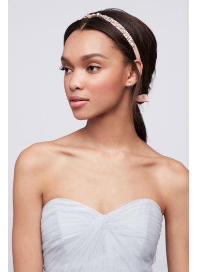 Halo Crystal and Ribbon Headband - Wedding Accessories