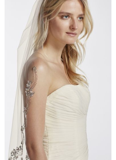 Dripping Crystals Veil - Wedding Accessories