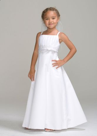 Girls Special Occasion Dress with Long A-Line Skirt - The bodice of this dress features many pretty