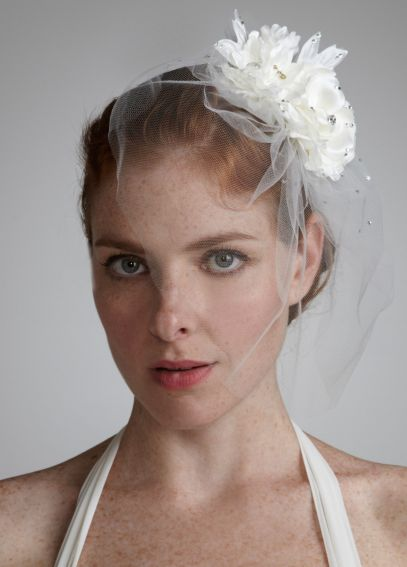 Double Flower Tulle Fascinator V135