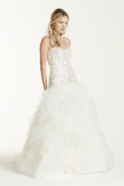 Strapless Tulle Wedding Dress with Ruffled Skirt | David's Bridal