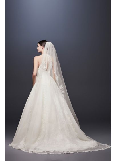 Corded Lace Edge Cathedral Veil - Wedding Accessories