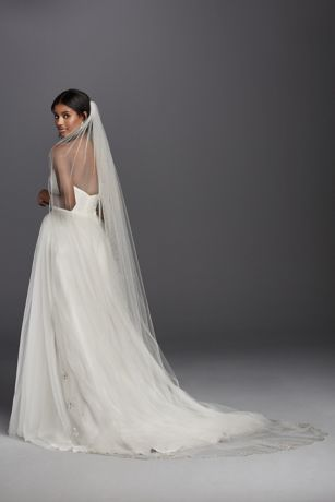 Grey for Wedding Dress Cathedral Veil
