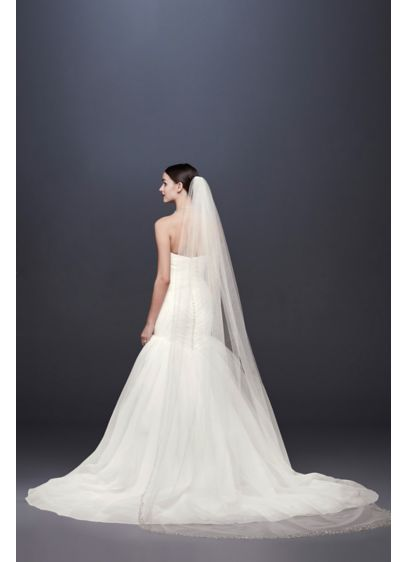Crystal-Dipped Cathedral Veil - Wedding Accessories