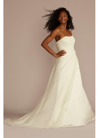 Chiffon A-line Gown with Side Draped Bodice V9409
