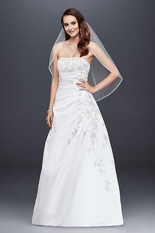 Strapless A-line Wedding Dress with Side Drape