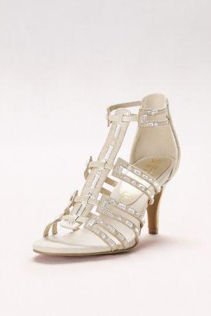 8296630688e072 Baguette-Strap Gladiator Heels