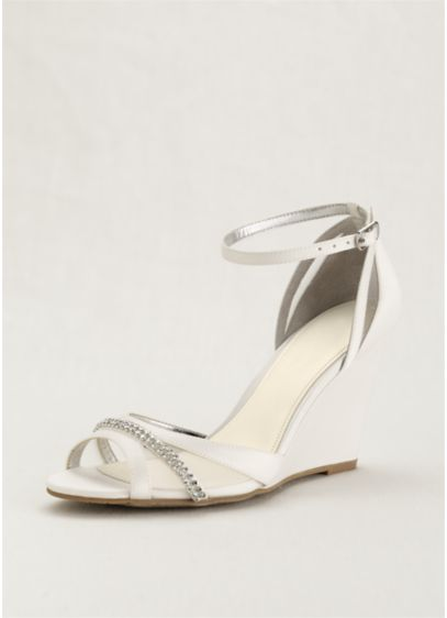 Touch of Nina Ivory (Touch of Nina Ankle Strap Wedge Sandals)