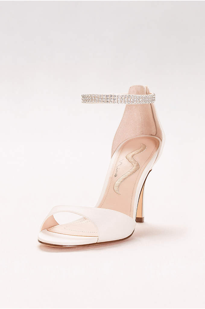 Rhinestone Ankle Strap Two-Piece Pumps