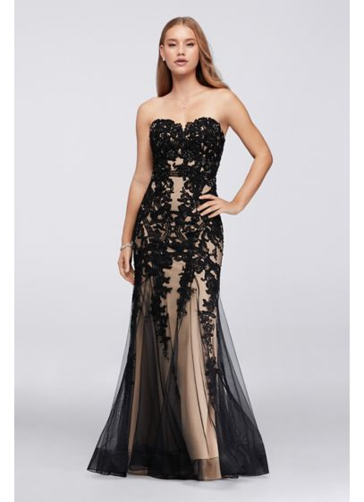 Long Mermaid/ Trumpet Strapless Prom Dress - David's Bridal