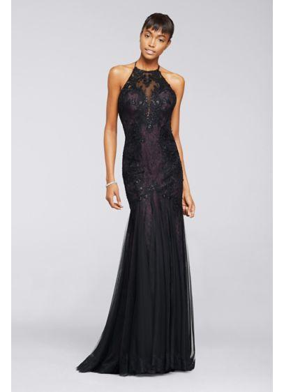 Long Mermaid/ Trumpet Halter Formal Dresses Dress - Viola Chan