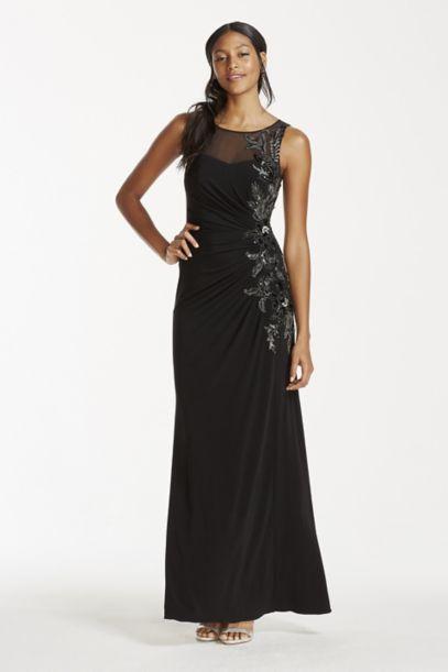 Illusion Tank Dress With Sequin Embellishment Davids Bridal