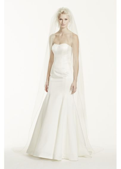 Cathedral Length Veil with Beaded Metallic Edge VCT258LONG