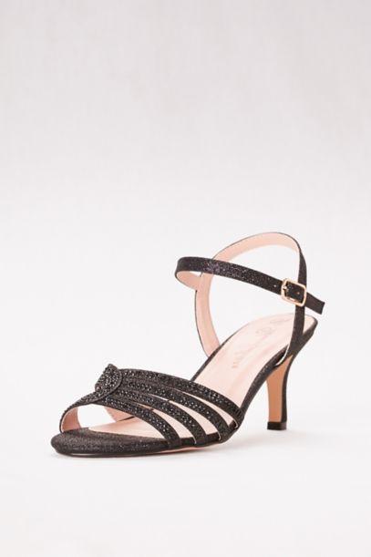 Low Heel Strappy Embellished Sandals | David's Bridal