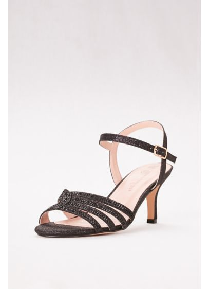 Blossom Black (Low Heel Strappy Embellished Sandals)