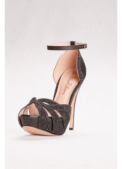 Blossom Black (High Heel Embellished Platform Sandal)