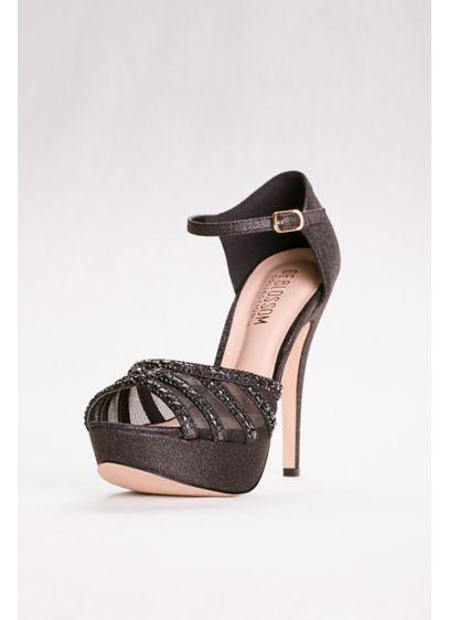 Blossom Black (High Heel Platforms with Peep Toe and Mesh Upper)