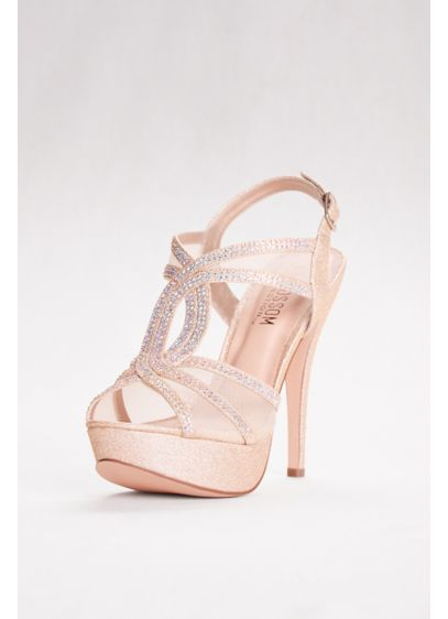 Blossom Beige (High Heel Platform Sandal with Mesh Upper)