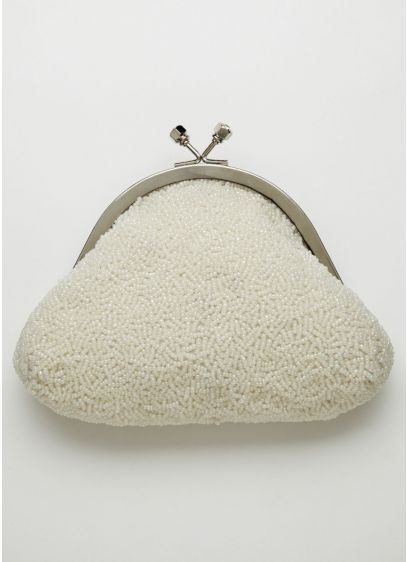 Soft Bead Handbag with Kiss Lock Frame - Wedding Accessories