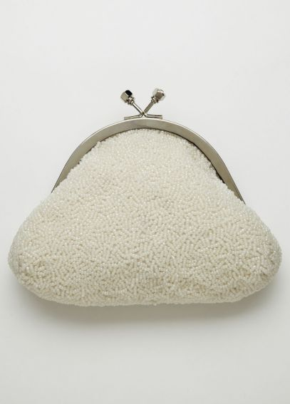 Soft Bead Handbag with Kiss Lock Frame  VINTAGE
