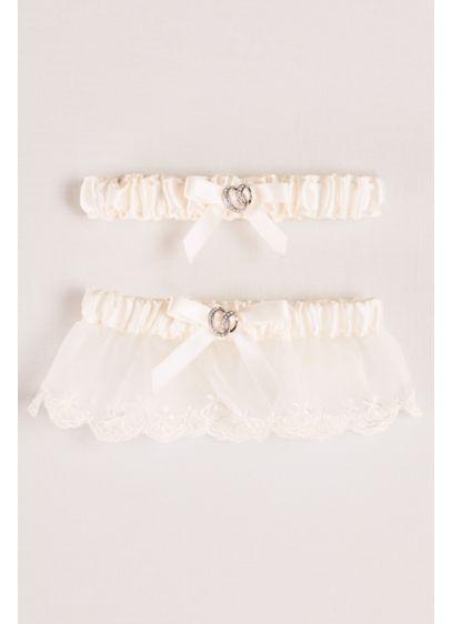 Ivory (Adjustable Satin Garter Set with Bow)