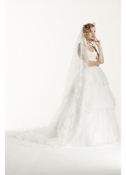 Cathedral Veil with Soutash Detail - Wedding Accessories