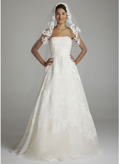 Cathedral Length Veil with Guipure Lace - Wedding Accessories