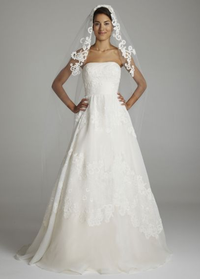 Cathedral Length Veil with Guipure Lace VMS001