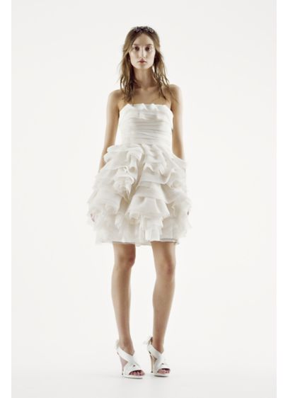 Short Ballgown Country Wedding Dress - White by Vera Wang