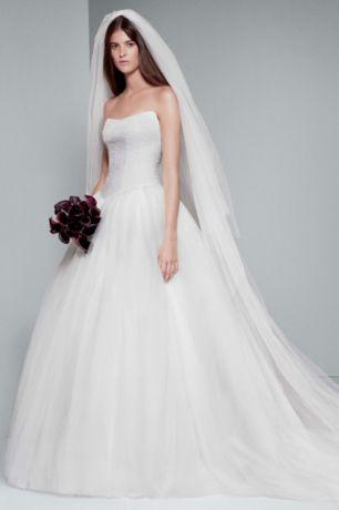 Long Ballgown Modern Chic Wedding Dress   White By Vera Wang