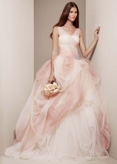 Ombre Tulle Ball Gown with Pick Up Skirt VW351157