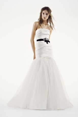 White by Vera Wang Fit and Flare Wedding Dress | David\'s Bridal