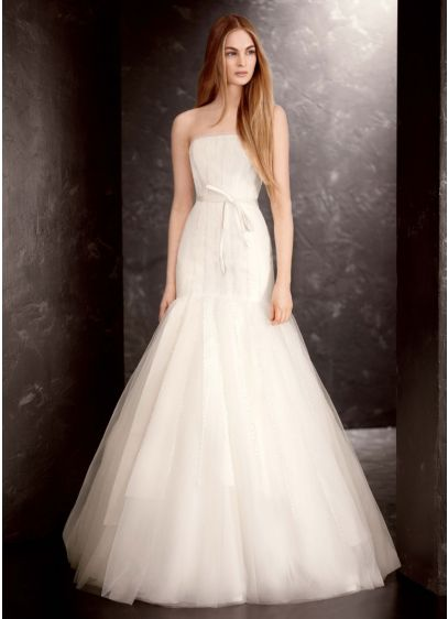 Long 0 Modern Chic Wedding Dress - White by Vera Wang