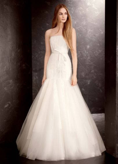White by Vera Wang Sequin Organza Wedding Dress VW351177